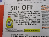 $.50/1 Tidy Simply Laundry Liquid Detergent 34oz or smaller 12/8/2018