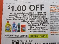$1/1 Tide Simply Detergent 50oz+ Pods 20ct+ 12/8/2018