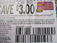 $3/32 5.5oz Cans or 1 32ct Variety Pack Friskies Wet Cat Food 3/20/2019