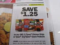 $1.25/1 Tyson Anytizers Snack or Chicken Strips 3/9/2019