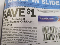 $1/1 Reynolds Kitchen's Quick Cut Plastic Wrap 3/31/2019