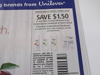 $1.50/1 Dove Advanced Care Antiperspirant Deodorant or Clinical 2/9/2019