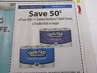 $.50/1 Quilted Northern Bath Tissue 6 Double Roll 2/27/2019