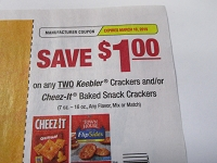 $1/2 Keebler Crackers or Cheez Its Baked Snack Crackers 3/10/2019