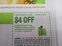 $4/2 Garnier Fructis Shampoo Conditioner Treatment or Styling 2/23/2019
