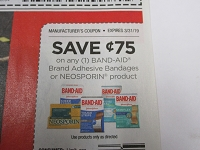 $.75/1 Band Aid Adhesive Bandages or Neosporin 3/31/2019