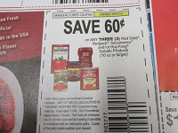 $.60/3 Red Gold, Redpack, sacramento or Huy Fong Totmato Products 3/31/2019