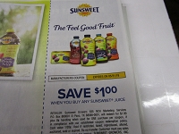 $1/1 Sunsweet Juice 5/31/2019