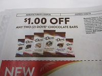 $1/2 Dove Chocolate Bars 4/28/2019 DND