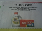 $1/1 Tide Simply Detergent 37oz+ or Bounce Sheets 11/11/2017