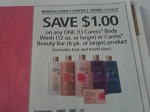 $1/1 Caress Body Wash 12oz or Beauty Bar 6pk 11/12/2017