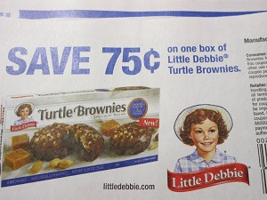$.75/1 Little Debbie Turtle Brownies 6/30/2018