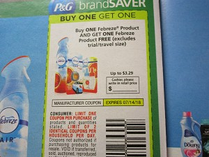 Buy 1 Get 1 FREE Febreze Product 7/14/2018