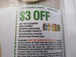 $3/2 Garnier Whole Blends Shampoo Conditioner or Treatment 2/23/2019