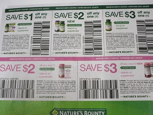 $1/1 Nature's Bounty Vitamin or Supplement + $2/1 New Vitamin or Supplement + $3/1 Co Q 10 + $2/1 Optimal Solutions Vitamin + $3/1 New Optimal Solutions Vitamin 6/8/2019