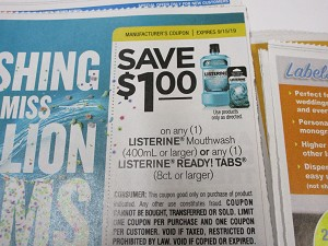 $1/1 Listerine Mouthwash or Ready Tabs 8ct 9/15/2019