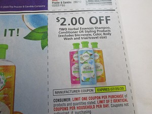 $2/2 Herbal Essences Shampoo Conditioner or Styling 7/25/2020