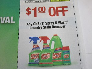 $1/1 Spray n Wash Laundry Stain Remover 9/12/2020
