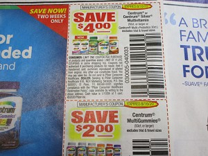 $4/1 Centrum or Centrum Silver Multivitamin + $2/1 Centrum Multigummies 8/16/2020