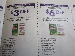 $3/1 Systane Lubricant Eye Drops 8ml + $6/1 Systane Lubricant 10ml Twin Pack 8/29/2020