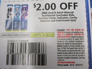 $2/1 Oral B Adult Manual Toothbrush 8/8/2020