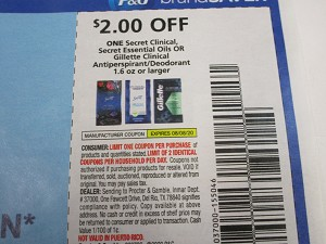 $2/1 Secret Clinical, Essential Oils or Gillette Clinical Antiperspirant Deodorant 8/8/2020
