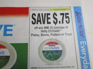 $.75/1 Hefty Ecosave Plates Bowls Platters or Trays 9/30/2020
