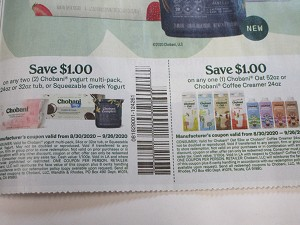 $1/2 Chobani Yogurt Multi Pack 24 or 32oz + $1/1 Chobani Oat 52oz or Coffee Creamer 24oz 9/26/2020