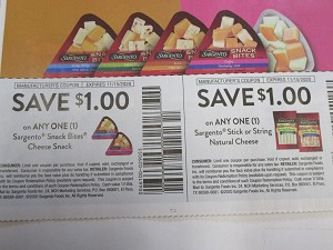 $1/1 Sargento Snack Bites Cheese Snack + $1/1 Sargento Stick or String Natural Cheese 11/15/2020