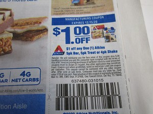$1/1 Atkins 4pk Bar Treat or 4pk Shake 12/15/2020