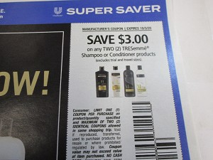 $3/2 Tresemme Shampoo or Conditioner 10/3/2020