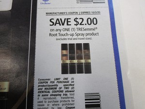 $2/1 Tresemme Root Touch Up Spray 10/3/2020