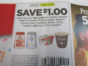 $1/10 Yoplait Yogurt 11/21/2020