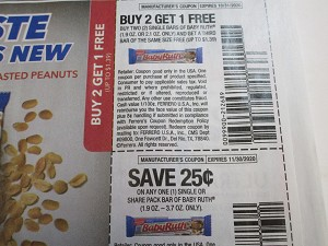 Buy 2 Get 1 FREE Baby Ruth Single Bars + $.25/1 Single or Share Bar Baby Ruth 11/30/2020