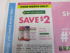 $2/1 Nature's Bounty Vitamin or Supplement 11/1/2020