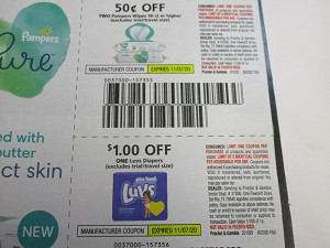 $.50/2 Pampers Wipes 56ct + $1/1 Luvs Diapers 11/7/2020